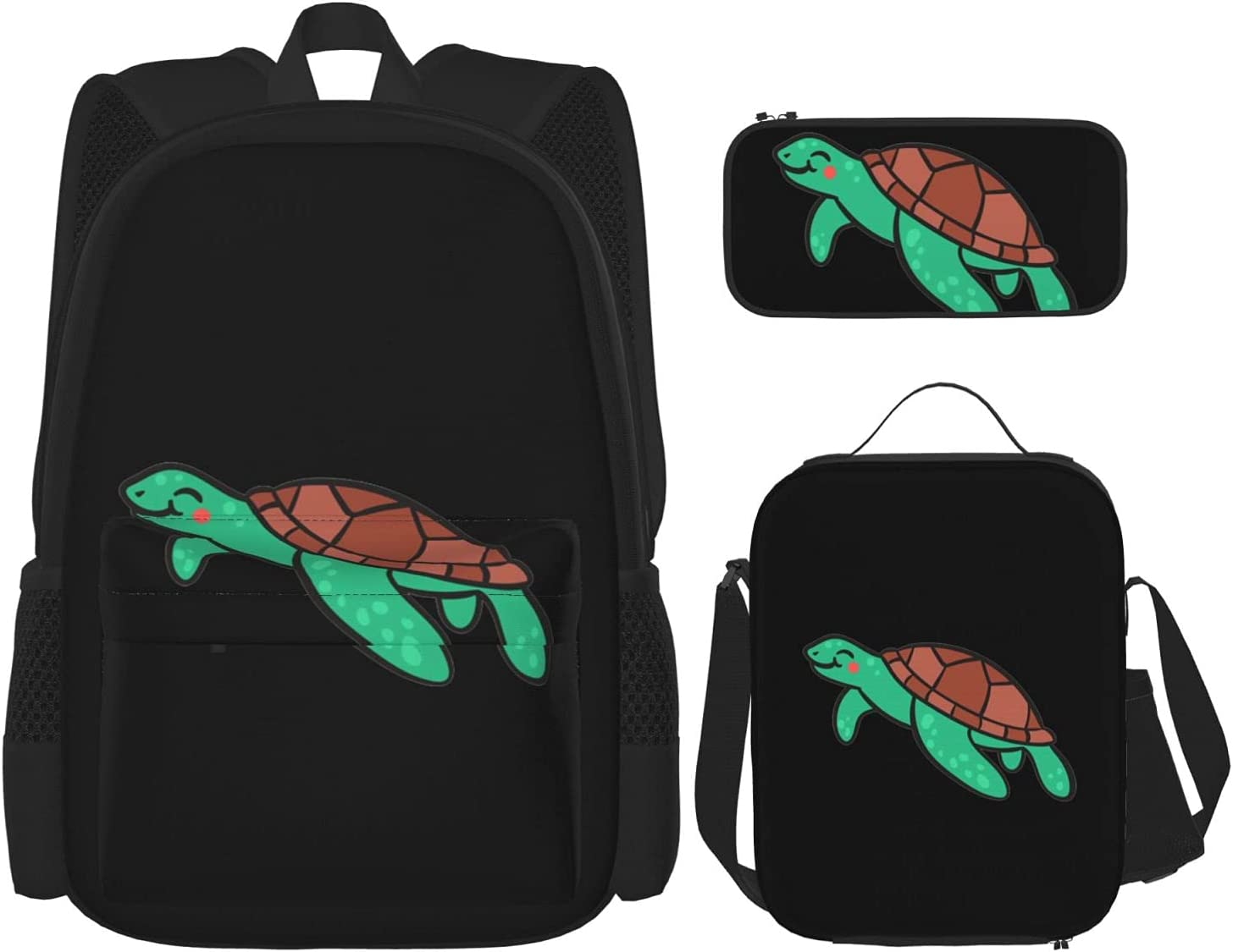 A Turtle Swimming Into The Sea supreme Backpack Bag Piece 3 Set Popular product School B