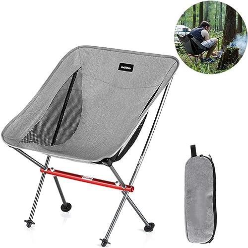 Chaise De Plage Pliante Compacte Extérieure, Chaise De Camping Pliable, Chaise De Camping Pliable pour La Pêche, Pliable, Léger en Aluminium, Chargeable 150 Kg