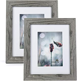 Scholartree Wooden Grey 8x10 Picture Frame 2 Set in 1 Pack or 5x7 Frame or 11x14 Photo Frame