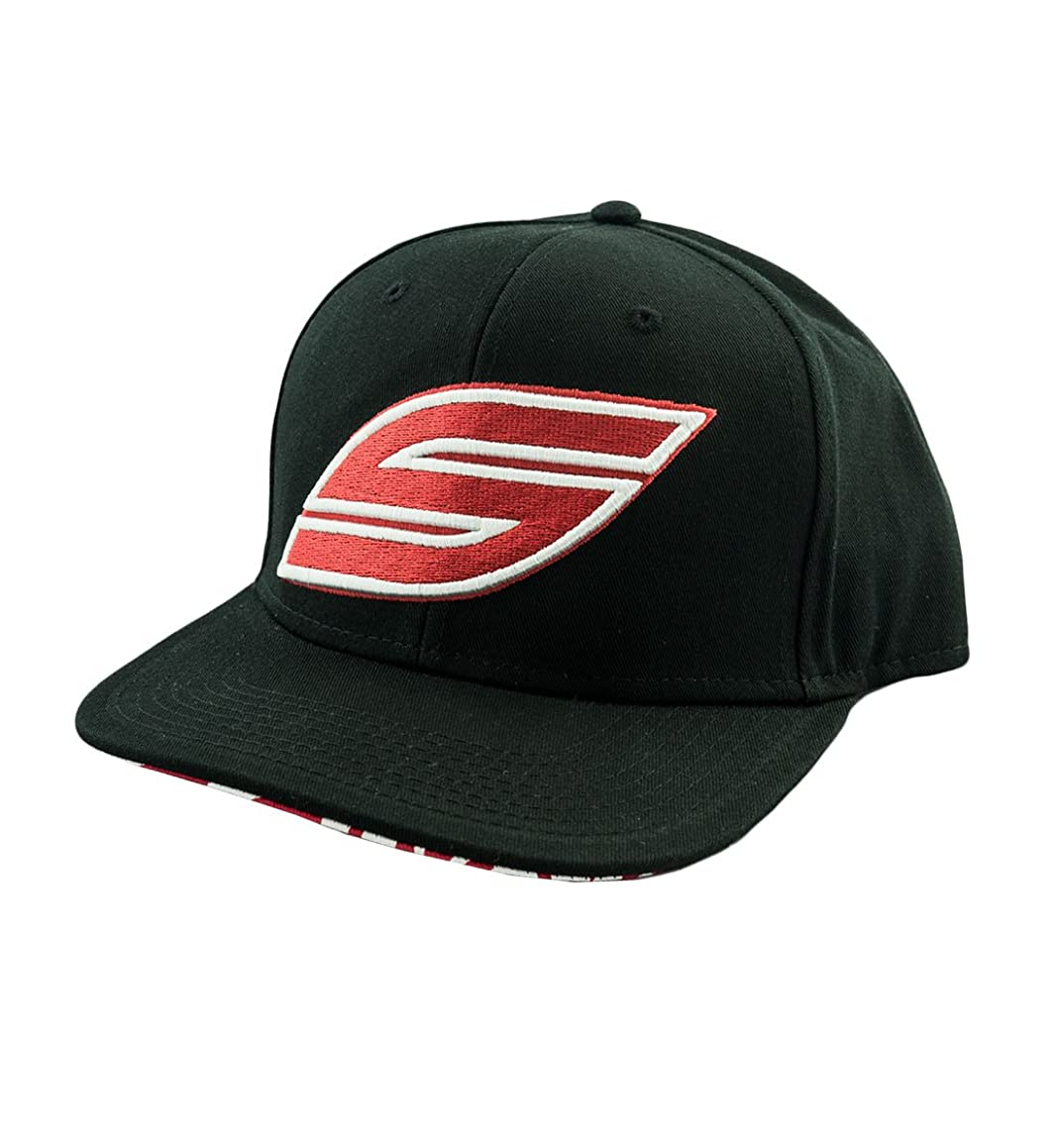 Social Paintball Snapback Hat/Cap, Black, Red S