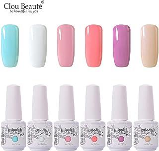 Clou Beaute Nail Gel Polish - 8ml 6Pcs Soak Off Led UV Varnish Mix Color Set Sweet Color For Home Beauty Individual Profes...