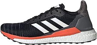 adidas Solar Glide 19 Men's Running Shoe, Core Black/Footwear White/Solar Orange