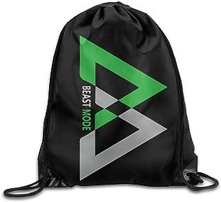 Creative Design Beast Mode Logo Marshawn Lynch #24 Football Drawstring Backpack Sport Bag for Men and Women