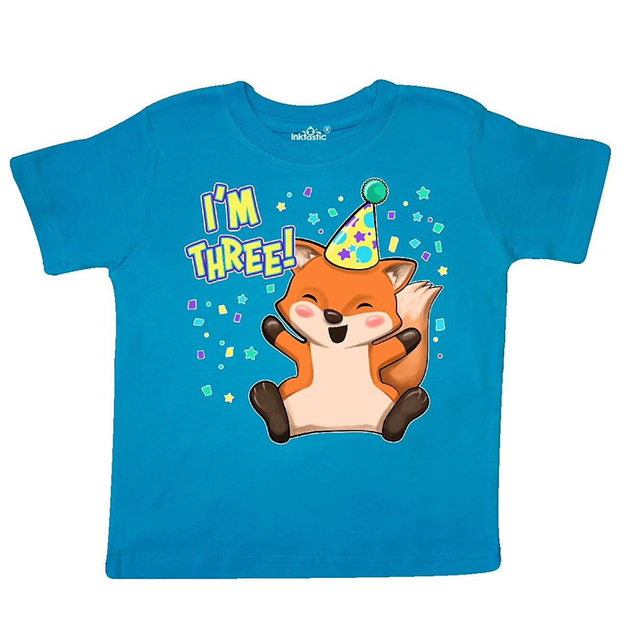 inktastic - I'm Three!- Cute Fox Birthday Toddler T-Shirt 319fa