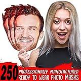 Lord Fox Máscara de Cara Personalizable 250 con Gomas o Palos listos para Usar o para Bricolaje,...