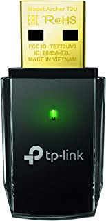 TP-Link Archer T2U 11AC USB WiFi Adapter - Dual Band 2.4G/5G AC600 Wireless Network Card, WiFi Dongle, Mini size, Supports Windows (XP/7/8/8.1/10), Mac OS (10.7~10.14)