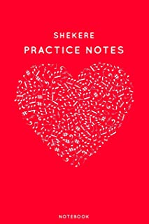 Shekere Practice Notes: Red Heart Shaped Musical Notes Dancing Notebook for Serious Dance Lovers - 6