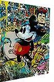 Magic Canvas Art - Imágenes Pop Art Disney Mickey Mouse lienzo 1 pieza de alta calidad impresión artística moderna murales de pared diseño pared imagen de pared imagen tamaño: 160 x 120 cm