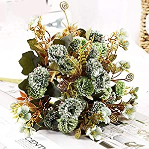 Artificial and Dried Flower Artificial Flower Lilac Flowers Aient Shore for Wedding Special Small Silk Flowers for Home Party Room Fake Flower Decor – ( Color: Green )