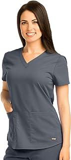 Grey's Anatomy 71166 V-Neck Top Granite S