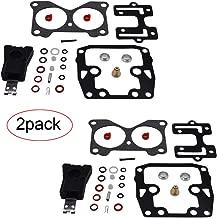 HandyTek 439076 2 Pcs Carburetor Rebuild Kit for Johnson Evinrude V4 85 90 100 115 125 140 HP