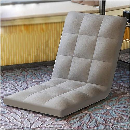 GFF Lit Pliant Simple Petit canapé Dortoir lit Chaise de Coussin de fenêtre Baie de siège arrière (Couleur  gris)