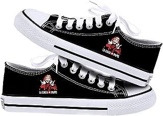 La Casa De Papel Men's Running Shoes Canvas Shoes Low-top/High-top Breathable Sneakers Shoes