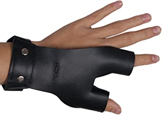 TOPARCHERY Archery Hand Guard Protector Shooting Glove Black for Left Hand (Black)
