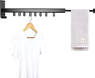 壁取り付け式 格納式 折り畳み式 衣類 ドライラック 省スペース 取り付け簡単 デザイン バルコニー ムードルーム 寝室 プールエリアなど ブラック 36.6インチ