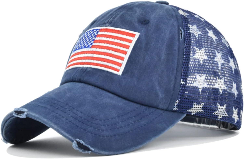 American Flag 4th of July Hat Patriotic Vintage Adjustable Baseball Cap for Unisex