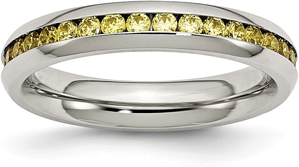 ICE CARATS Stainless Steel Weekly update 4mm Very popular! Cz Yellow Zirconia November Cubic