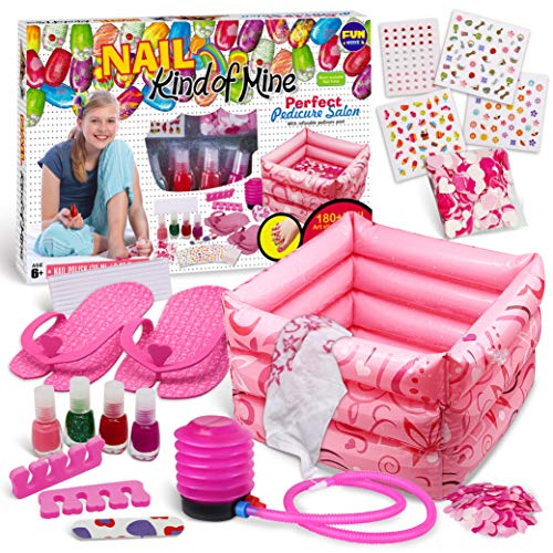 Manicure and Pedicure Kit for Kids, FunKidz Girls Spa Set with Bigger...