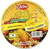 A-ONE Fideos Instantáneos En Vaso, Sabor Curry 65 g