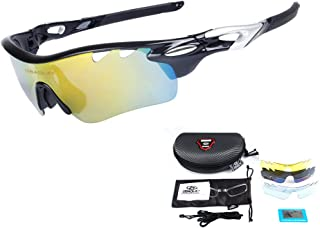 Men Polarized Sports Sunglasses with 5 Interchangeable Lenses Women Cycling Glasses for Fishing Hiking Golf
