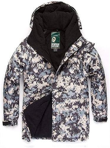 South Play Hommes Mosaïque Coupe-Vent Imperméable Ski VêteHommests de Snowboard Zip encapuchonné Manteau de Ski veste Veste de Ski