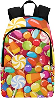 Various Candies Casual Daypack Travel Bag College School Backpack for Mens and Women