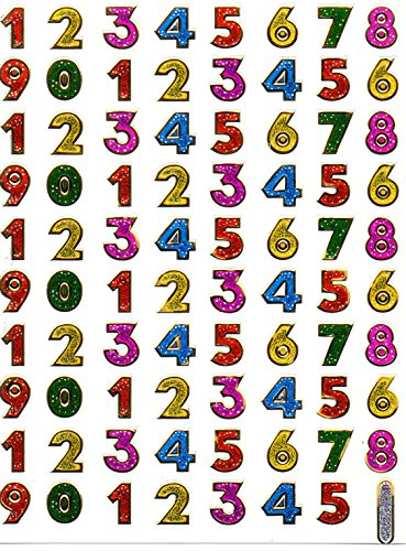 by soljo Lettres Colore 12 mm Decal Autocollant de décalque 1 Metallic Glitter Dimensions de la Feuille: 13,5 cm x 10 cm