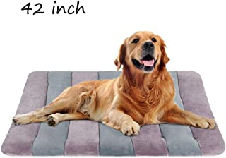 Dog Bed Crate Mat Pad 36/42/47 in Pet Beds Washable Anti-Slip Mattress Kennel Pads