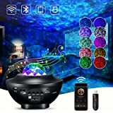 Funkprofi Galaxy Star Night Light Projector, Nebula Starlight Projector and Ocean Wave Projector with Music Bluetooth Speaker/Remote Control/Timer for Kids Adults Bedroom/Birthday/Party/Decoration