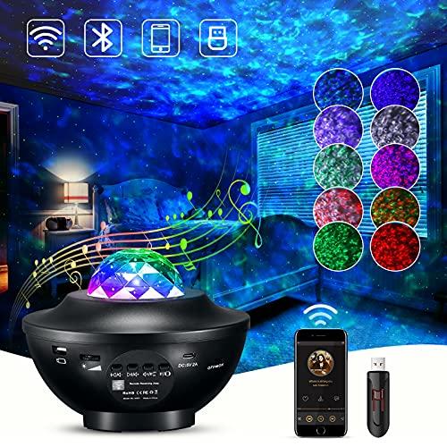 Star Night Light Projector with LED Galaxy Ocean Wave Nebula Starlight...
