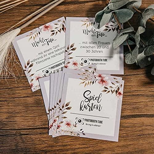 Photobooth Tube Spielkarten Hochzeit Foto Fotoaufgaben Foto Hochzeitsspiel Spiel Spielekarten