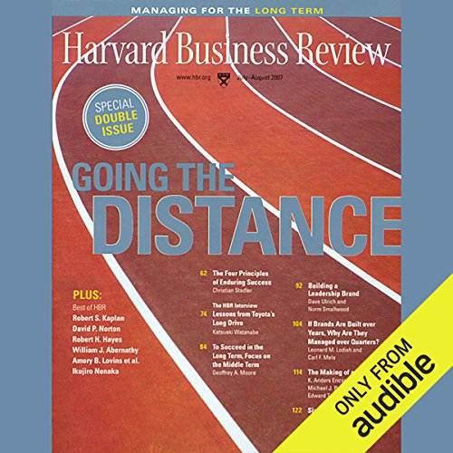 Harvard Business Review, Managing For the Long Term                   By:                                                                                                                                 Harvard Business Review,                                                                                        Paul Saffo,                                                                                        Neil Howe,                   and others                          Narrated by:                                                                                                                                 Todd Mundt                      Length: 2 hrs and 16 mins     Not rated yet     Overall 0.0