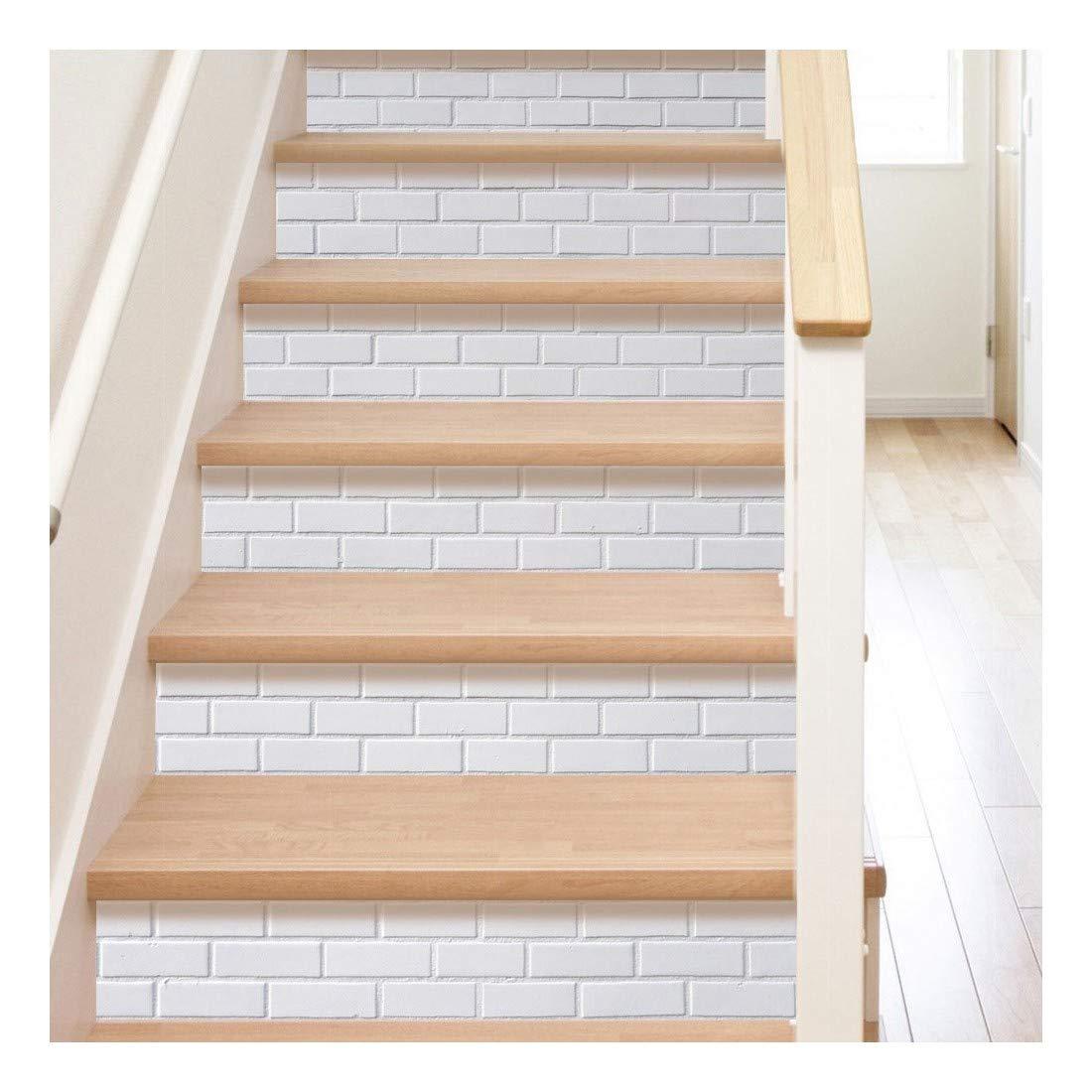 SERFGTFH Escaleras De Piedra Decoración Pegatinas Portes Paisaje 3D Home Escalera Decorativos Vinilos Adhesivos De Piso Impermeable De PVC Pegado Pegatinas De Pared: Amazon.es: Hogar