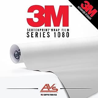 3M Scotchprint Series 1080 Satin White Aluminum Car Wrap Film Sheet Roll - 3M1080 - 75ft x 5ft (375 sq/ft) (900