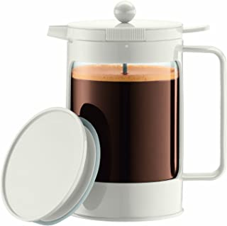 Bodum Bean Ice French Press 1-1/2 Litre Iced Coffeemaker, 51-Ounce, White