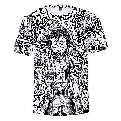 T-Shirts Hombres Impreso En 3D My Hero Academia Manga Corta Camisetas Informal Anime Cosplay