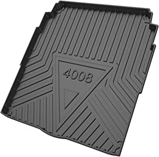 Large Waterproof Heavy Duty Rubber Boot Mat Liner Front And Rear Trunk Mat for Peu-geot 508/4008/5008/308 2010 to 2021 Rea...