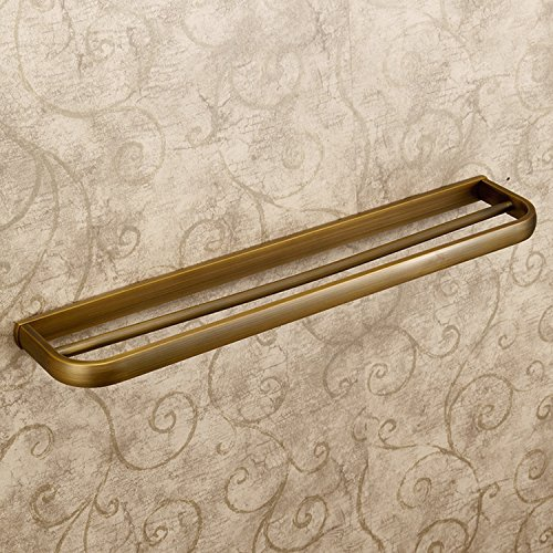 Leyden Retro Bathroom Accessories Solid Brass Antique Brass Finished Double Towel Bar Home Decor Towel Rack Wall maounted