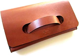 Women's Leather Clutch with Handle
