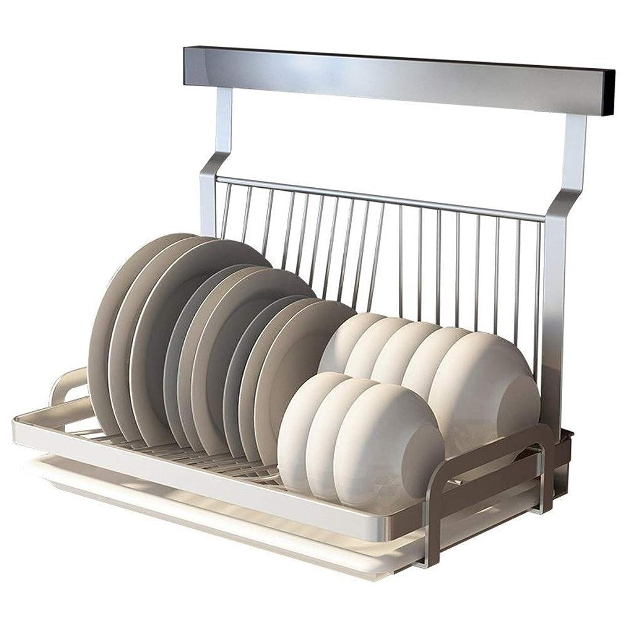 ドライバふつうウェイドJPAKIOS 穴のないステンレス鋼の家庭用食器棚ボウル食器乾燥ラックドレンキッチンストレージボウルが主催ラックウォールマウント (色 : As picture)