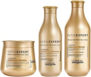 LOREAL ABSOLUTE REPAIR SHAMPOO, CONDITIONER AND MASK AND MASK 300ML