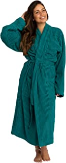 Trends Alley – Ribbed Velour Terry Bathrobe / Terry Cloth Robe / Dressing Gown for Men / Women, Spa Robe / Sleepwear, 100%...
