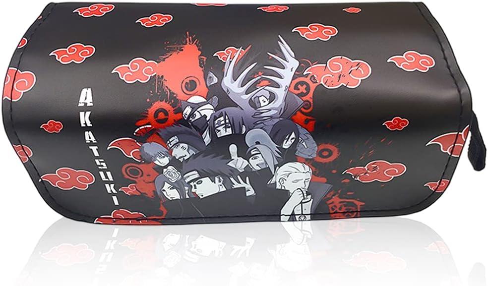 Estuche de Lápices Naruto,Estuche Multifuncional con Cremallera, Porta lápices Útiles Escolares Naruto Papelería de Regalo(Naruto)