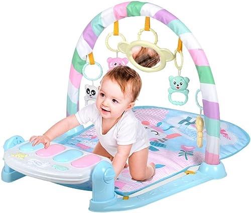 LINAG Activity Matte Baby Gym Play Decke Mat Piano Spieldecke Infant Spiel Krabbeldecken Taufgeschenk Baby Smart Spielzeug Kick Sport Musik Fu itness Kinder Lernspielzeug , Blau b