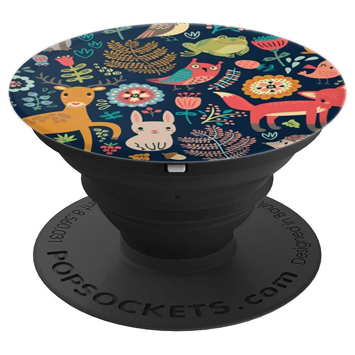 Cute Flower Animal Lover Blue Tropical Floral Pattern Gifts - PopSockets Grip and Stand for Phones and Tablets nrlqr6641