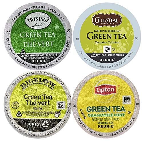 20 Count - Top Brand Green Tea Variety K-Cups for Keurig K Cup Brewers and 2.0 Brewers - (4 Brands, 5 K-cups each)