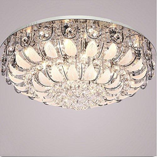 Chandeliers Modern Ceiling Light, LED Crystal Light, Round Living Room...