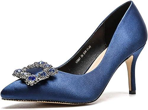 HLG Orteil à bout pointu pour femme robe à talons hauts chaussures de soirée
