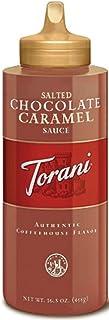 Torani Puremade Sauce, Salted Chocolate Caramel Flavor, Squzzee Bottle, GMO Free & Gluten Free, 16.5 Oz. 468g