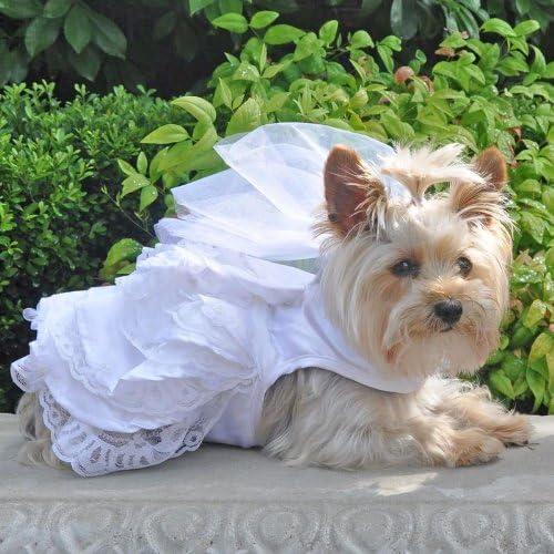 Dog Wedding Dog Dress and Leash Set